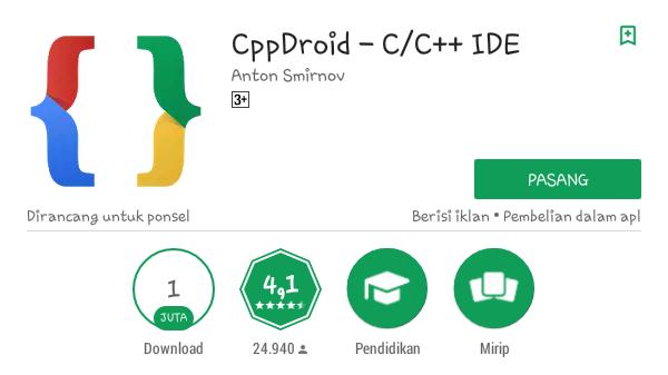 Aplikasi Cppdroid